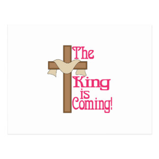 The King Is Coming Postcard