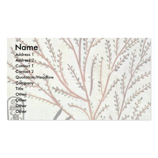 The King Is Fed From The Holy Tree (Lady Of The Sy Business Card Template