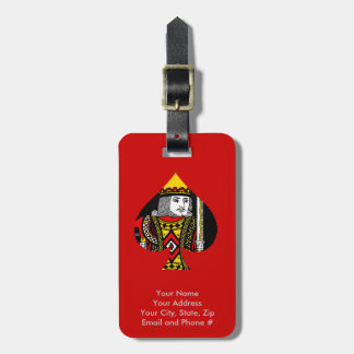 The King of Spades Luggage Tag