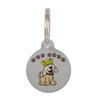the king pet tag