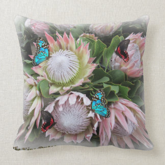 The King Protea Throw Pillow