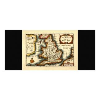 The Kingdome of England Historic Map Rack Card Design