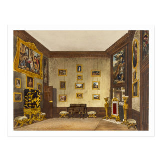 The King's Writing Closet, Hampton Court, from 'Th Postcard