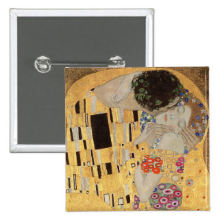The Kiss, 1907-08 2 2 Inch Square Button