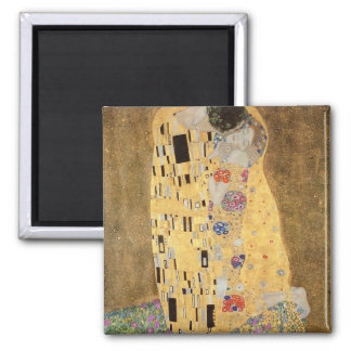The Kiss, 1907-08 Square Magnet
