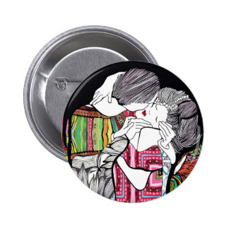 The Kiss 2 Inch Round Button