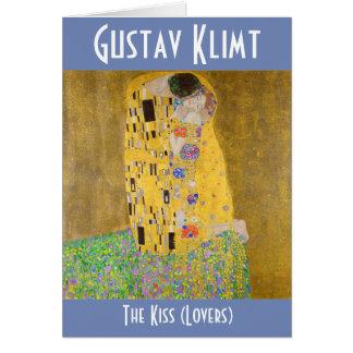The Kiss aka Lovers Painting Gustav Klimt Restored Card