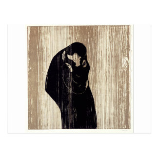 The kiss by Edvard Munch lithography, Postcard