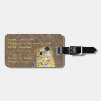 The Kiss by Gustav Klimt Art Nouveau Jugendstil  C Bag Tag