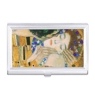 The Kiss by Gustav Klimt Business Card Holder