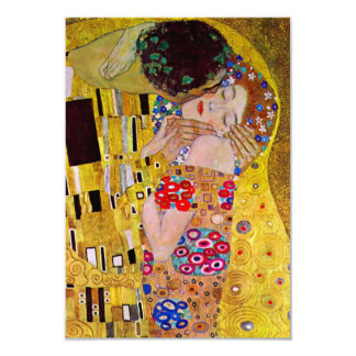 "The Kiss by Gustav Klimt, Change of Address 3.5"" X 5"" Invitation Card"