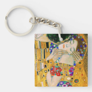 The Kiss by Gustav Klimt Double-Sided Square Acrylic Keychain
