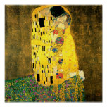 The Kiss by Gustav Klimt Fine Art Poster Print