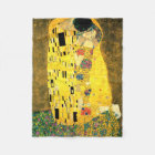 The Kiss by Gustav Klimt Fleece Blanket