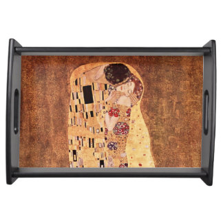 The Kiss by Gustav Klimt Food Trays