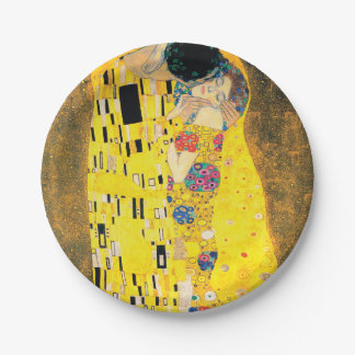 The Kiss by Gustav Klimt Paper Plate