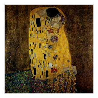 The Kiss by Gustav Klimt Poster