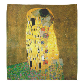 The Kiss by Gustav Klimt Scarf Bandannas