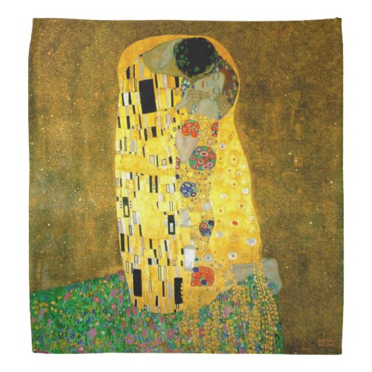 The Kiss by Gustav Klimt Scarf Bandannas