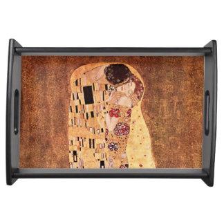 The Kiss by Gustav Klimt Serving Tray