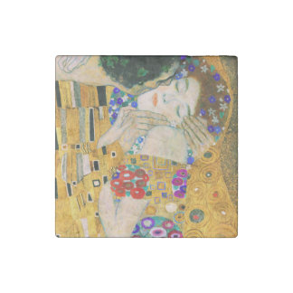 The Kiss by Gustav Klimt Stone Magnets