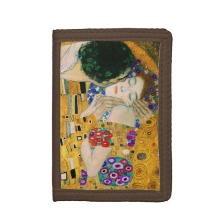 The Kiss by Gustav Klimt Trifold Wallet