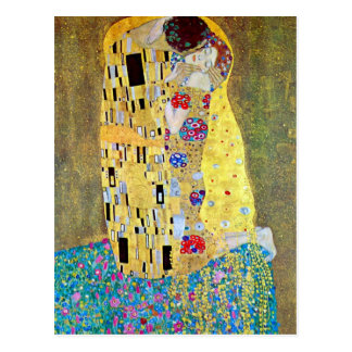 The Kiss by Gustav Klimt, Vintage Art Nouveau Postcard