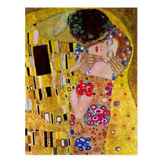 The Kiss by Gustav Klimt Vintage Art Nouveau Post Cards