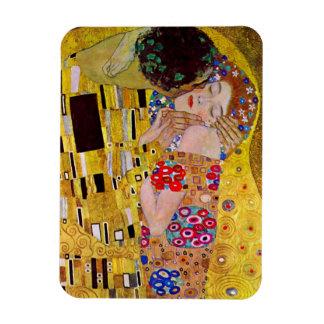 The Kiss by Gustav Klimt, Vintage Art Nouveau Rectangular Photo Magnet
