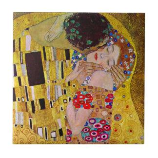 The Kiss by Gustav Klimt, Vintage Art Nouveau Tile