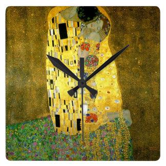 The Kiss by Gustav Klimt Wallclocks