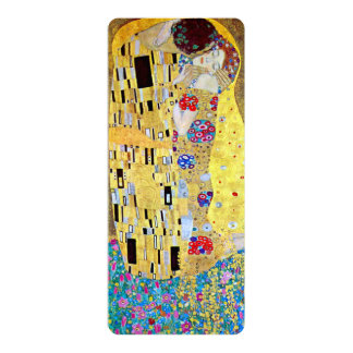 "The Kiss by Gustav Klimt, Wedding Save the Date! 4"" X 9.25"" Invitation Card"