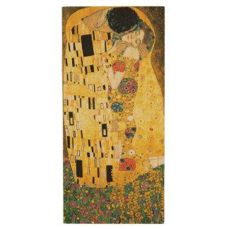 The Kiss by Gustav Klimt Wood USB Flash Drive
