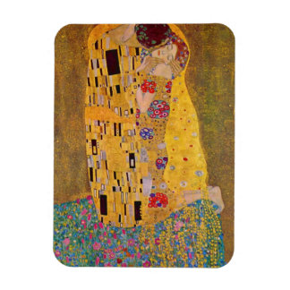 """The Kiss"" by Gustave Klimt Rectangular Photo Magnet"