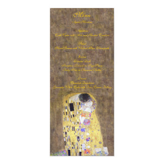 The Kiss by Klimt Wedding Gold Menu Card