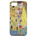 The Kiss (Der Kuss) by Gustav Klimt, Art Nouveau iPhone 5 Case