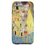 The Kiss (Der Kuss) by Gustav Klimt, Art Nouveau Tough iPhone 6 Case