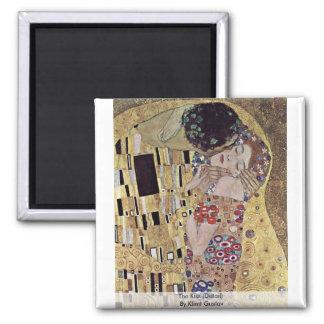 The Kiss (Detail) By Klimt Gustav Refrigerator Magnet