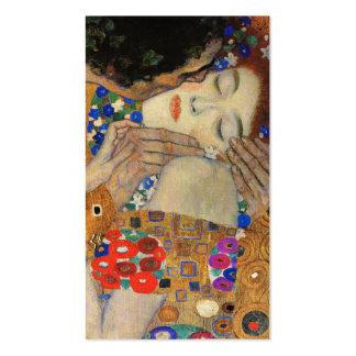 The Kiss Detail Gustav Klimt Business Card Template