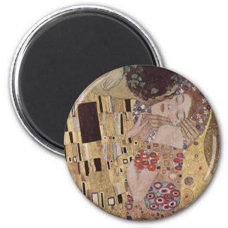 The Kiss Detail - Gustav Klimt Fridge Magnet