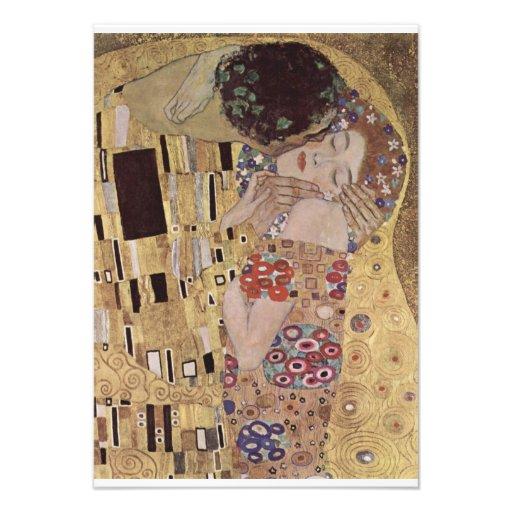 The Kiss Detail - Gustav Klimt Custom Invite