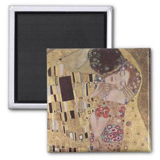 The Kiss Detail - Gustav Klimt Square Magnet