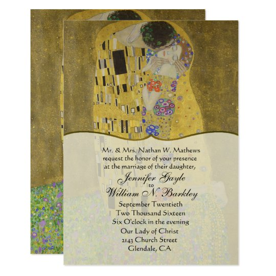 The Kiss Fine Art Wedding Invitation