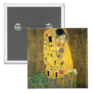 The Kiss - Gustav Klimt 2 Inch Square Button