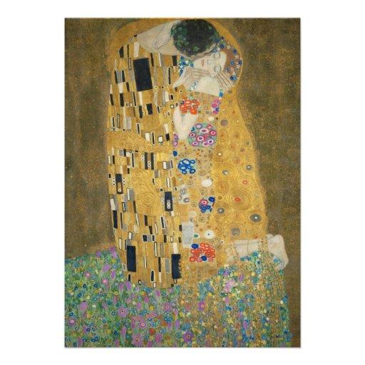 The Kiss - Gustav Klimt Custom Invites