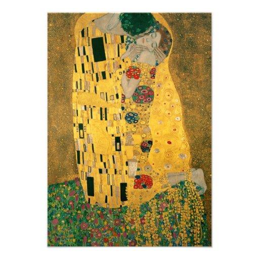The Kiss - Gustav Klimt Custom Invitations
