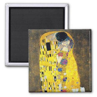 The Kiss, Gustav Klimt Square Magnet