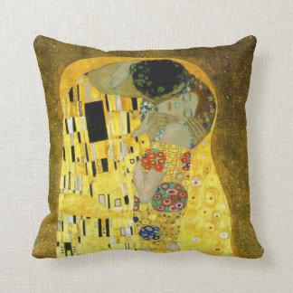 The Kiss ~ Gustav Klimt Throw Pillow