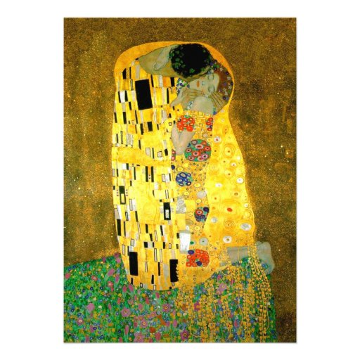 The Kiss Gustav Klimt Wedding | Invitation