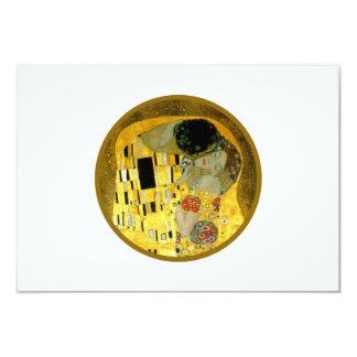 "The Kiss Gustav Klimt Wedding   RSVP Card 3.5"" X 5"" Invitation Card"